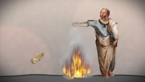 Newton Aristoteles wirft Hölzer