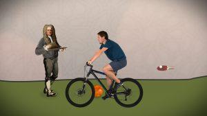 Mit Newton kann man Radfahren, Bowling und Tischtennis erklären