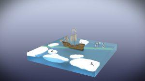 James Cook war der erste, der bis in die Antarktis vorstieß.