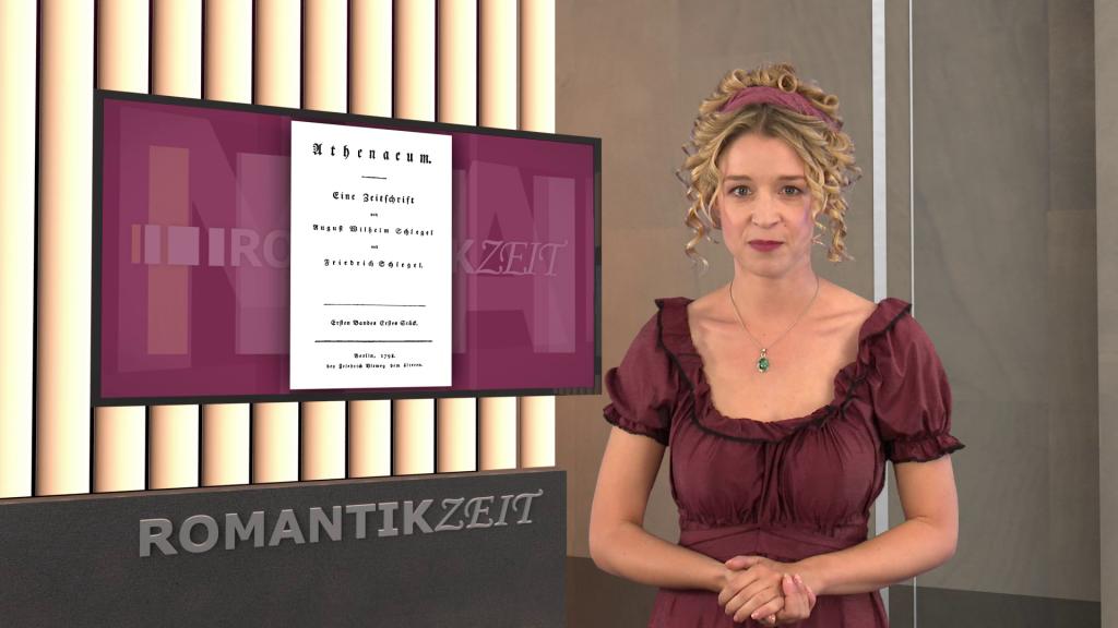 historische Moderatorin in 3D-Studio